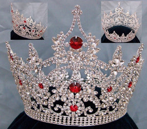 Continental Ruby Red Rhinestone Full Crown - CrownDesigners