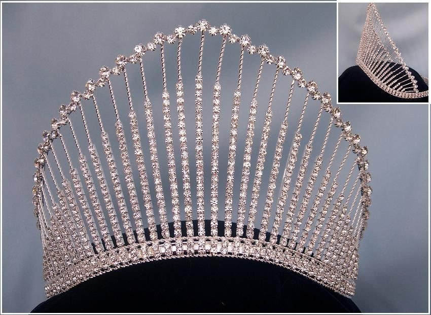 Rhinestone Miss Beauty Queen Pageant Crown - CrownDesigners