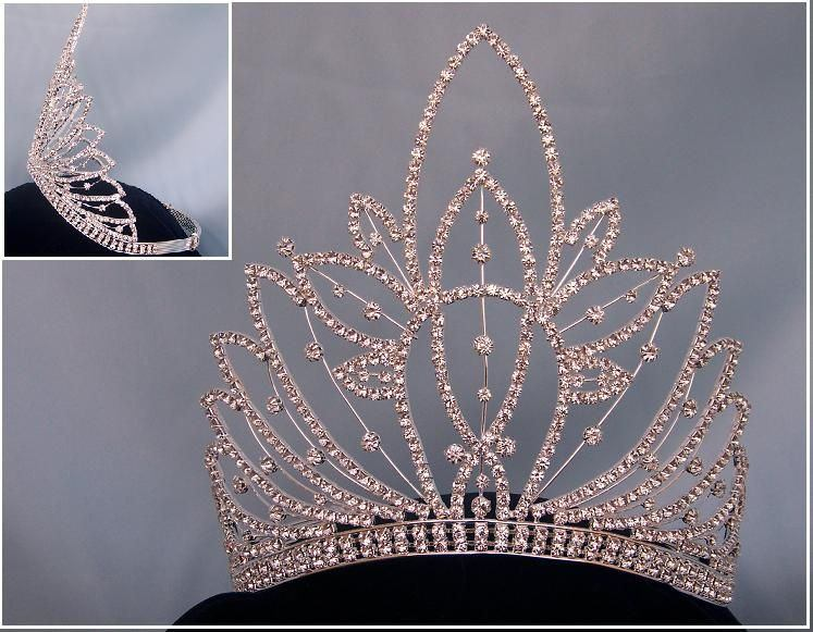 RHINESTONE Miss Beauty Queen pageant crown tiara - CrownDesigners