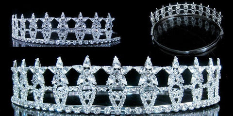 Beauty Pageant Rhinestone Crown Tiara - CrownDesigners