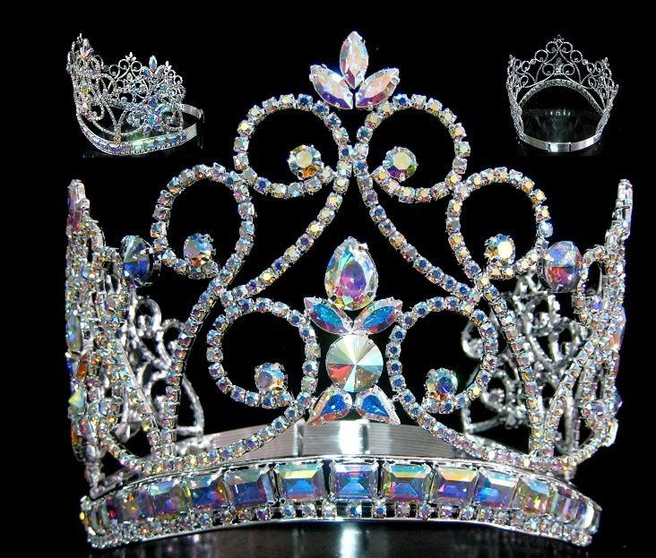 Northern Lights Imperial AB Silver Adjustable  Contoured Crown - CrownDesigners
