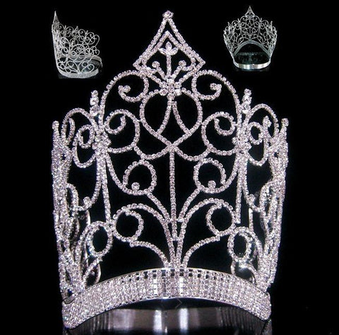 Royal Imperial Queen rhinestone crown tiara, CrownDesigners