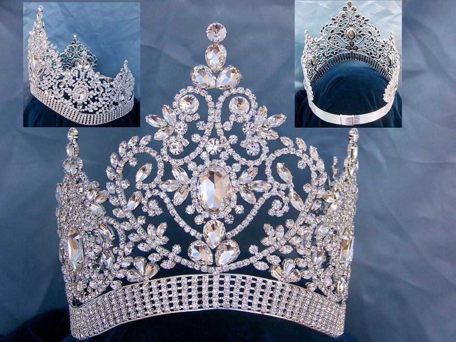 Adjustable Contoured Fairy Tale Beauty Queen Rhinestone  Crown - CrownDesigners