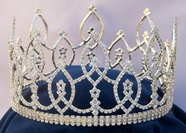 Beauty Pageant Rhinestone Full Crown Tiara, CrownDesigners