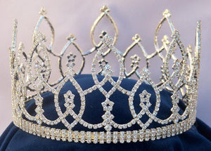Beauty Pageant Rhinestone Full Crown Tiara - CrownDesigners