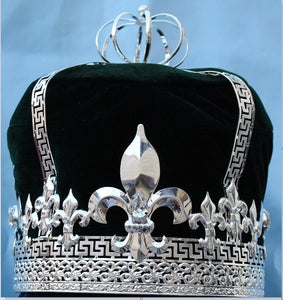 Imperial State Mens King Silver and Black Crown - CrownDesigners