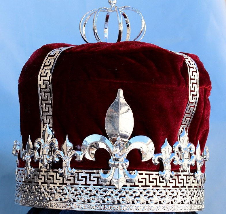 Imperial State Mens king Silver  and red Crown, CrownDesigners