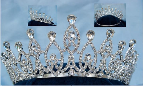 Monarchy Princess Rhinestone Wedding Pageant Tiara - CrownDesigners