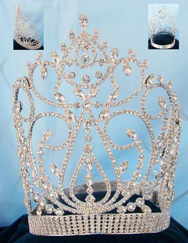 Large Adjustable queen rhinestone crown - CrownDesigners