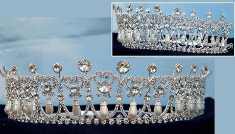 Adjustable Silver Cambridge Lover's Knot Tiara, CrownDesigners