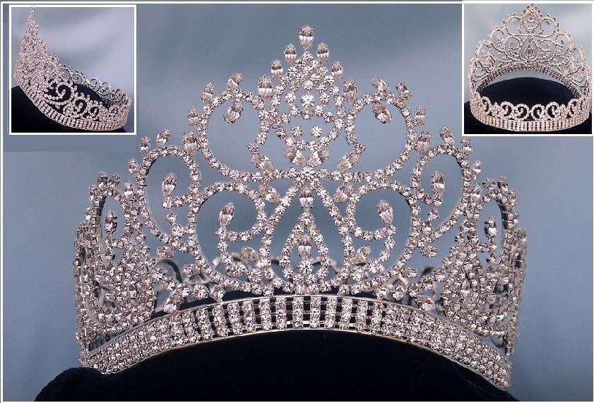 Beauty Pageant Award Silver Contoured Full Crown, CrownDesigners
