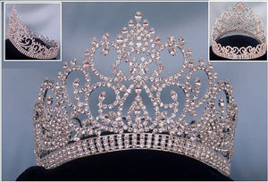Beauty Pageant Award Silver Contoured Full Crown - CrownDesigners