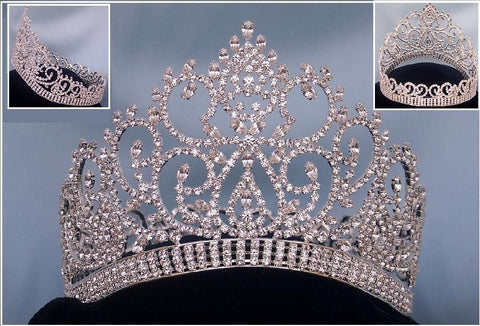 Beauty Pageant Award Silver Contoured full crown