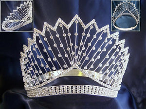 Miss Beauty Queen Rhinestone Crown Starlight Tiara - CrownDesigners