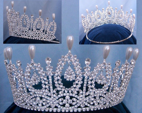 The Duchess of Andalucia rhinestone Queen Princess Bridal Crown Tiara - CrownDesigners