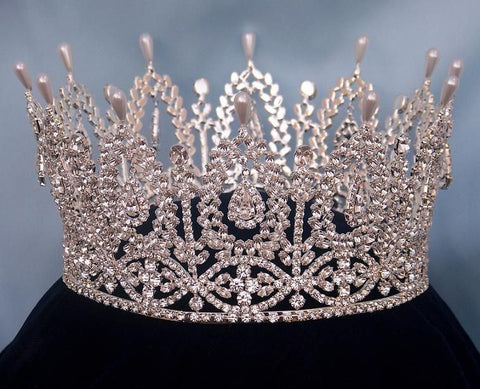 Andalucia Palace Full Rhinestone Crown - CrownDesigners