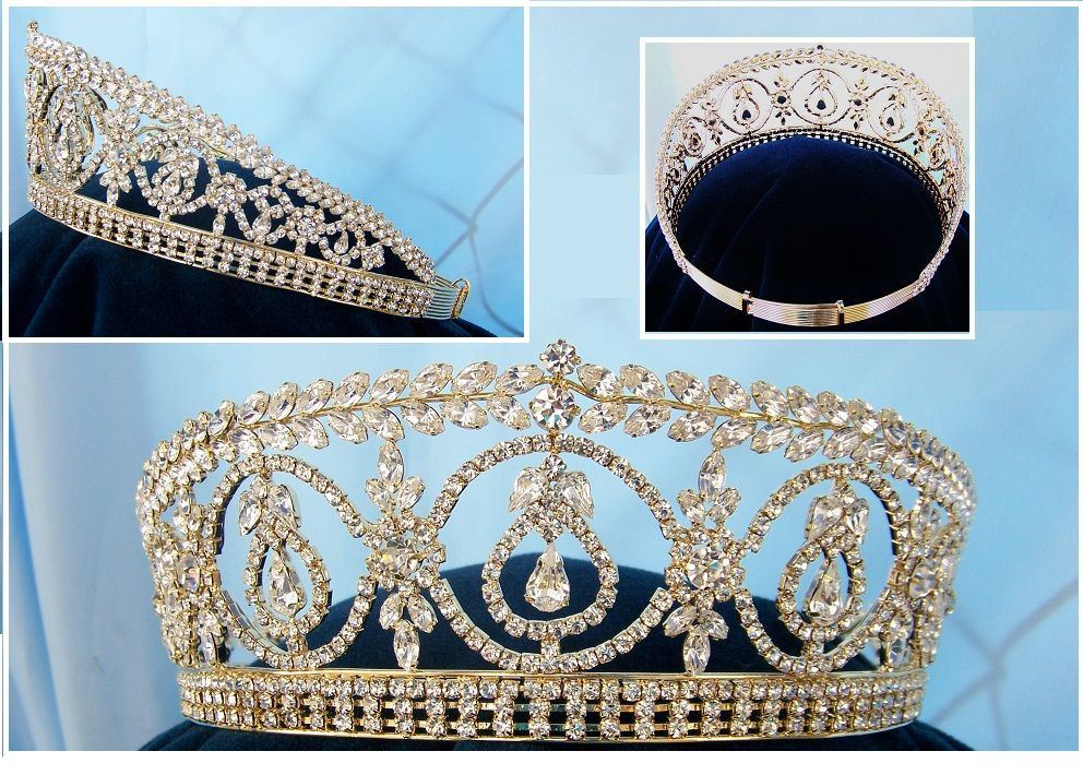 2019 Snuoy Vintage Royal Queen Crown For Women Pageant
