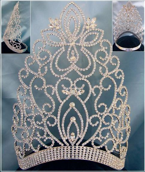 Large Adjustable Miss Beauty Queen Crown Tiara - CrownDesigners
