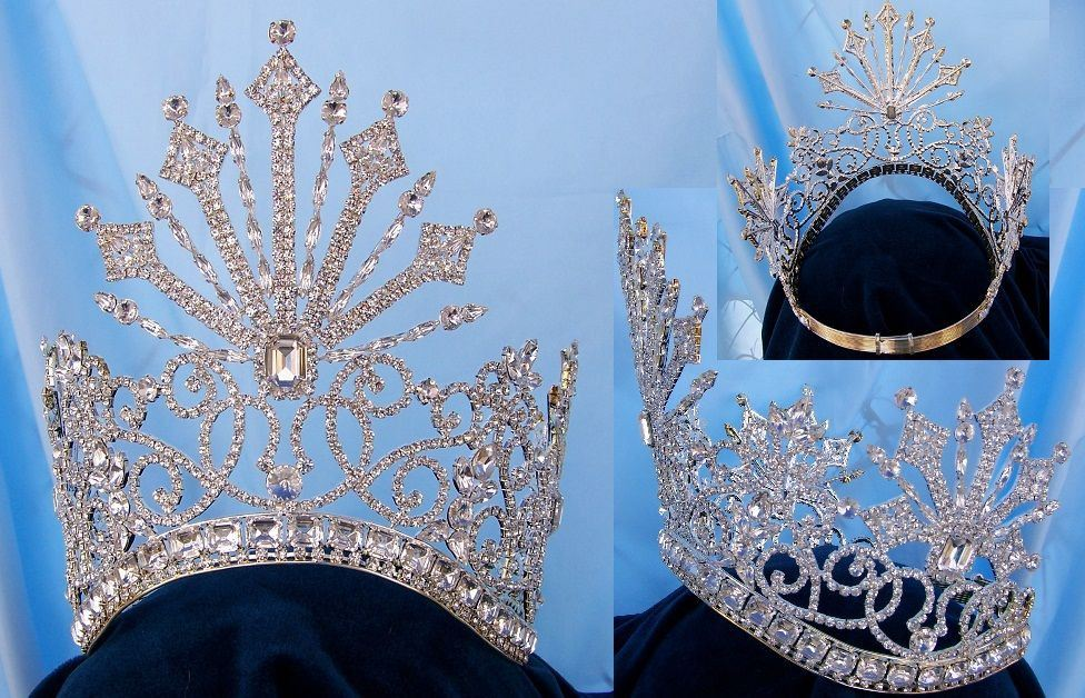 Beauty Pageant Rhinestone Queen Tsarina Alexandra Fedorovna Silver  Romanov Contoured Crown, CrownDesigners