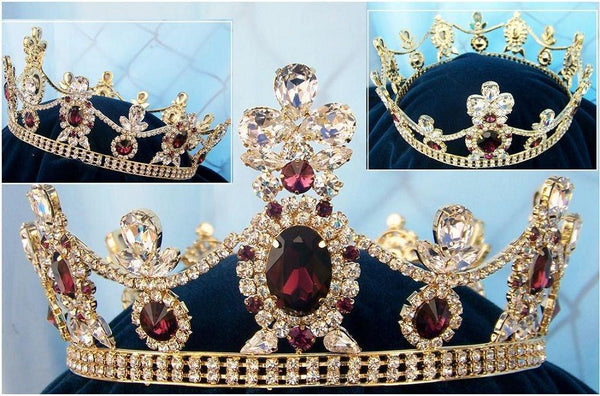 Crown Royal Tsarina State Rhinestone Full Gold Queen King