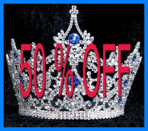 Continental Blue Sapphire Crown Tiara, CrownDesigners