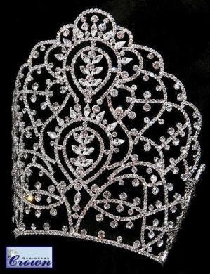 Priestess of India Rhinestone Beauty Pageant Rhinestone Crown Tiara - CrownDesigners