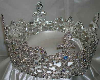The Belle Epoque Regal Full Rhinestone QUEEN PAGEANT  Crown, CrownDesigners