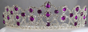 The Amethyst Royal Empress Rhinestone Beauty Pageant Crown Tiara - CrownDesigners