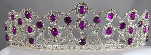 The Amethyst Royal Empress Rhinestone Beauty Pageant Crown Tiara