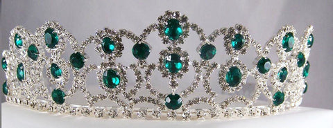 The Emerald Royal Empress Rhinestone Beauty Pageant Crown Tiara, CrownDesigners