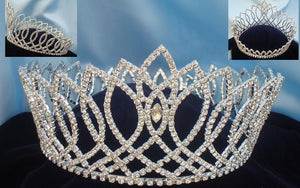 Beauty Pageant Full Round Rhinestone Crown - CrownDesigners
