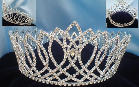 Beauty Pageant Full Round Rhinestone Crown, CrownDesigners