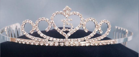 "Adelle ""Quince"" Rhinestone Princess Tiara - CrownDesigners"