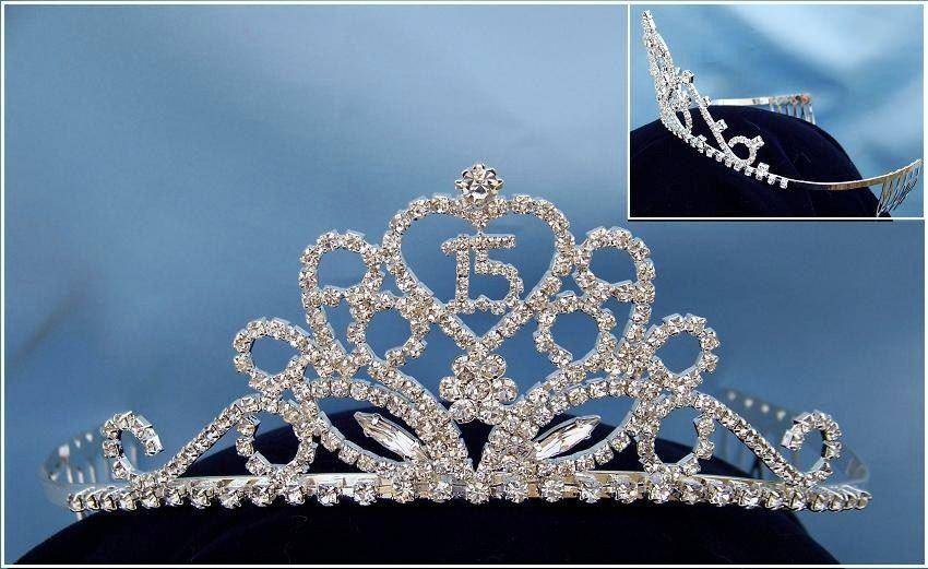 "Lizzette Marie ""Quince"" Rhinestone Princess Tiara, CrownDesigners"