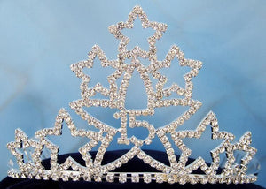 "Starry Night ""Quince""/Sweet 16"" Princess Rhinestone Tiara - CrownDesigners"