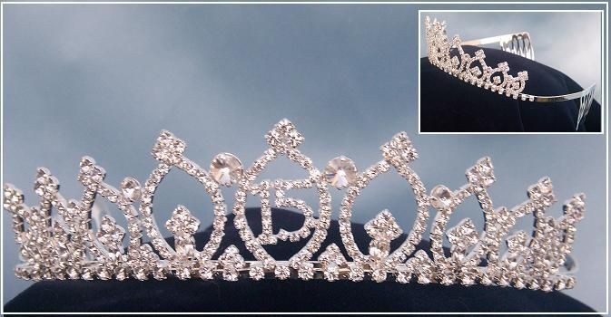 "Circle of Love ""Quince"" Princess Rhinestone Tiara, CrownDesigners"