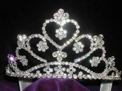 Bridal Princess Queen Rhinestone Crown Tiara - CrownDesigners