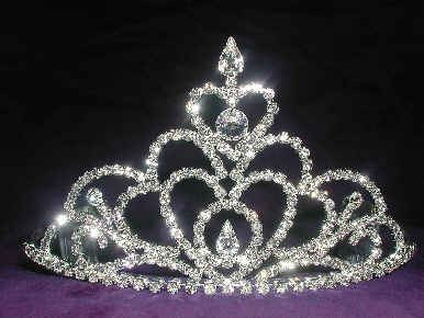 Rhinestone Princess Pageant Wedding Crown Tiara, CrownDesigners