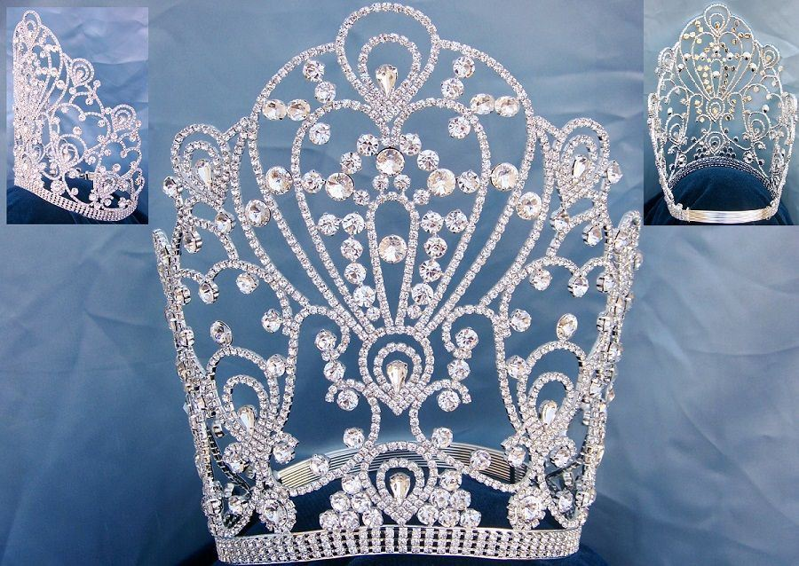 Beauty Pageant Queen The Empress of Latin America Stars Rhinestone Tiara, CrownDesigners