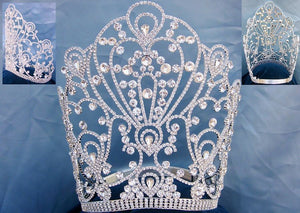 Beauty Pageant Queen The Empress of Latin America Stars Rhinestone Tiara - CrownDesigners