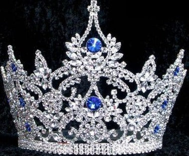 Large Pageant Sapphire Crown (Adjustable) - CrownDesigners