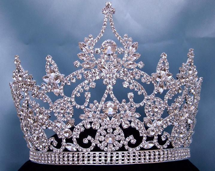 Continental Adjustable Rhinestone Crown Tiara, CrownDesigners