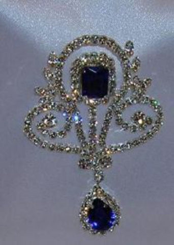 Deauville Beauty Pageant Queen Princess Rhinestone Brooch, CrownDesigners