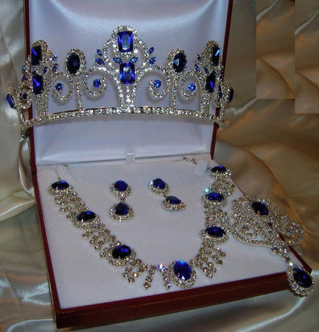 Deauville Beauty Pageat Rhinestone Royal Set, CrownDesigners