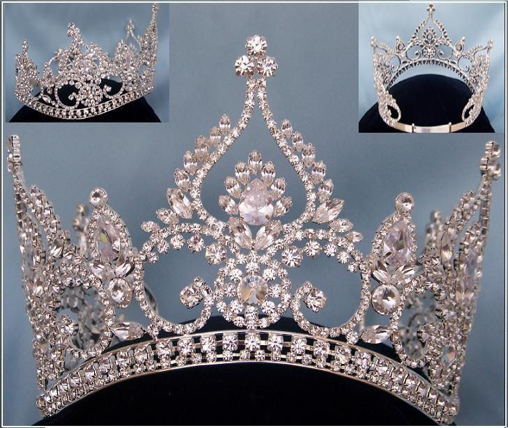 Fontainebleau Beauty Pageant Rhinestone Crown Tiara, CrownDesigners