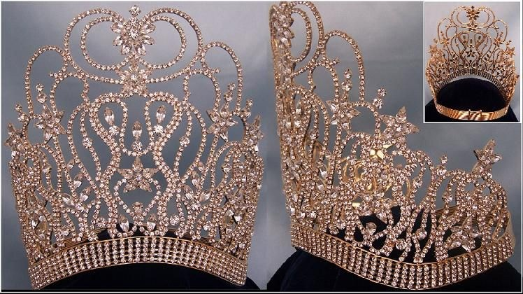 GOLD Supreme Diva Beauty Pageant Crown - CrownDesigners