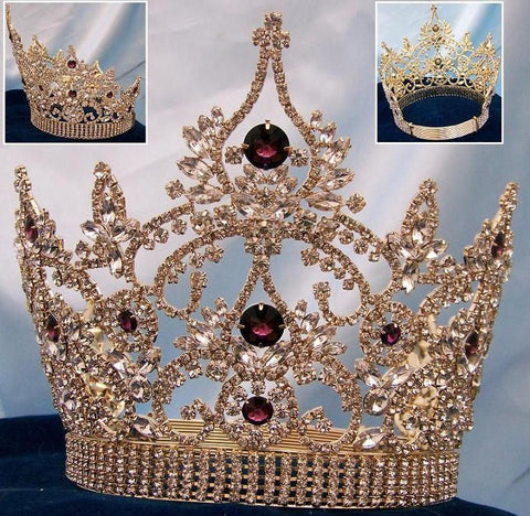 Continental Adjustable Amethyst gold crown, CrownDesigners