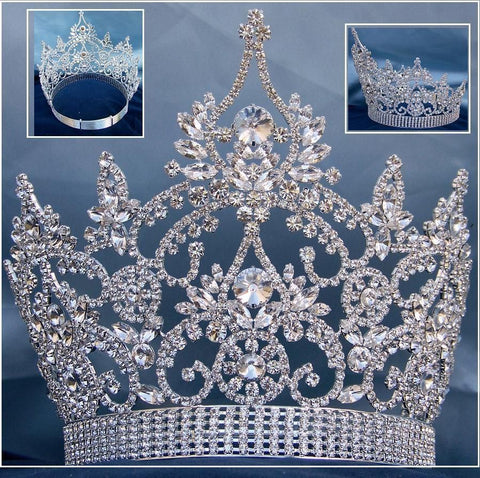 Continental Adjustable Crystal Crown Tiara, CrownDesigners