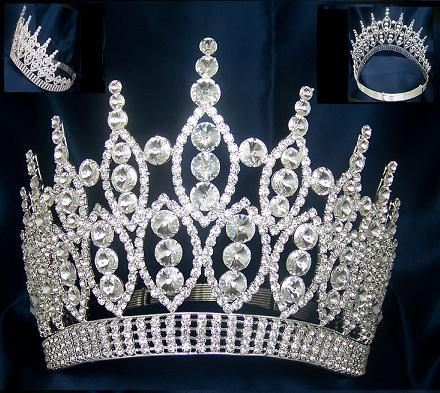 Queen of The 7 Seas RHINESTONE BEAUTY PAGEANT RHINESTONE ADJUSTABLE  SILVER - CrownDesigners