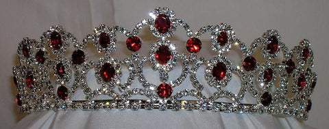The Scarlet Royal Empress Rhinestone Beauty Pageant Crown Tiara, CrownDesigners